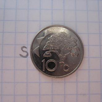 НАМИБИЯ, 10 центов 2012 г. (состояние).