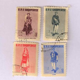 Албания 1961 Национальные костюмы
