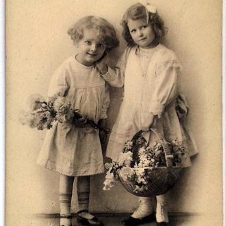 Открытка почтовая карточка С Праздником Троицы 1911 г. Германия Fv8.5