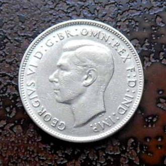 1 флорин Австралия 1947 состояние !!!  серебро РЕДКАЯ!!!