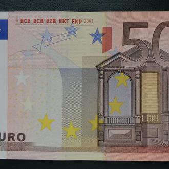 50 евро 2002. Жан-Клод Трише. Сохранище. В коллекцию