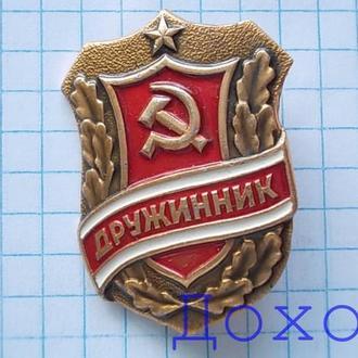 Значок Дружинник СССР 4
