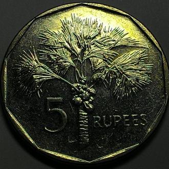 Сейшелы  5 рупий  2010 год ОТЛИЧНАЯ!!!!!!