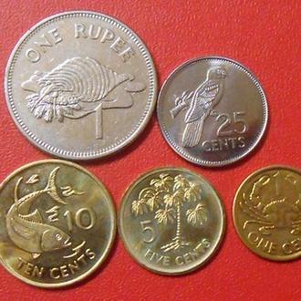 Подборка из 5 монет Сейшельские острова 2004 - 2010 год.