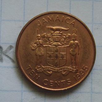 ЯМАЙКА. 10 центов 1995 года.