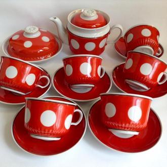 Сервиз чайный *Гостеприимность*.  Фарфор. 14 предметов.