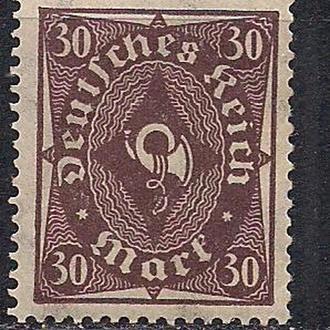 """Рейх**, 1922 г., стандартный выпуск """"Posthorn"""""""