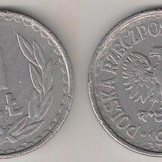 Польша 1 злотый 1982 г.