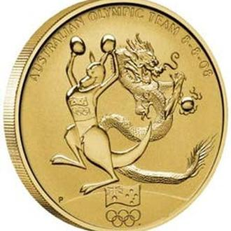 АВСТРАЛИЯ. The Perth Mint. 2008. 1$. Beijing 2008. Olympic Games.