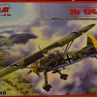 Сборная модель самолета Hs 126 A-1 1:48  ICM