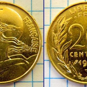 Франция 20 сентим 1969