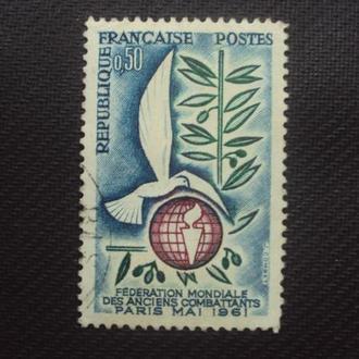 Франция 1961г. гаш.