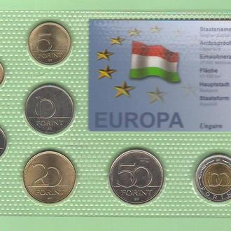 Набор монет ВЕНГРИЯ  УГОРЩИНА блистер запайка пластик