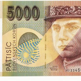 Официальный Буклет образец с описанием защиты 5000 крон 1995 Словакия большой формат
