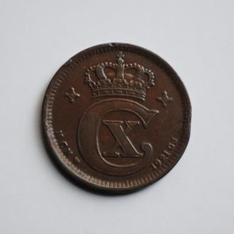 Дания 5 эре 1921 г. HCN, 'Король Кристиан X (1912-1947)'