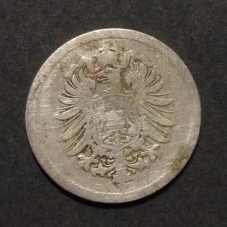 Монета 10 пфеннигов, 1889 г.
