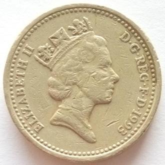 Великобритания 1 фунт, 1993