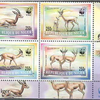 фауна Нигер-1998 wwf, газель (угол)