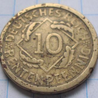Германия 10 пфенниг 1924 год
