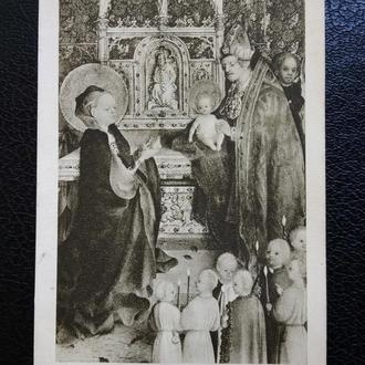 Открытка. 1938 г. Представление в храме. Германия. Кельн. Состояние!