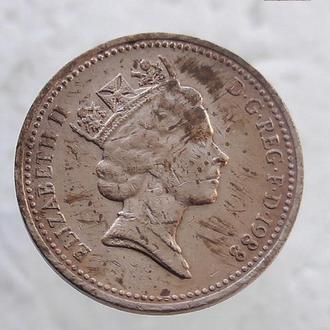 1 пенни Великобритания 1988 год (81)