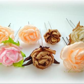 Шпильки (гренадлі) для волосся Трояндочки