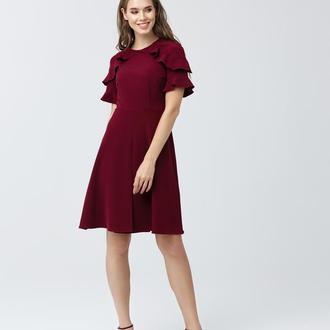 Платье с воланами 3087