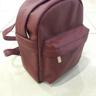 Модный женский рюкзак бордовый