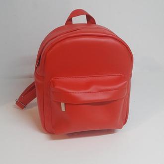 Модный удобный женский рюкзак красный