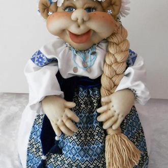 Кукла-грелка на чайник украиночка