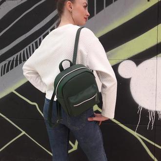 Модный женский рюкзак зеленый
