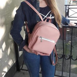 Модный красивый женский рюкзак  пудра