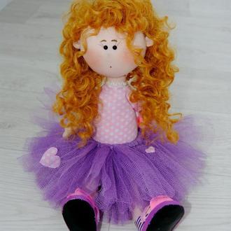 Текстильная интерьерная игровая кукла Тильда