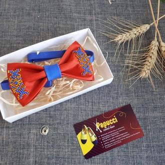 Краватка-метелик червоного кольору