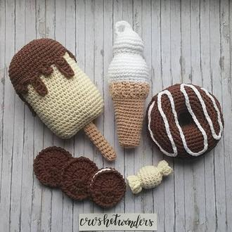 Набор вязаных сладостей Шоколадный
