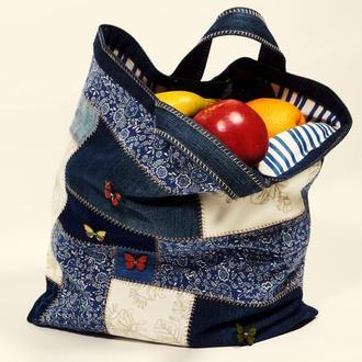 Эко-сумка из джинсов