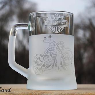 Кружка для пива с гравировкой.