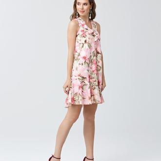 Платье с оборками 2167