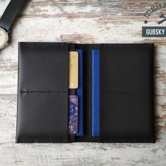 Обкладинка для паспорта обложка для паспорта и карт гаманець шкіряний ручна робота