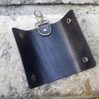 Ключница, чехол для ключей из натуральной кожи ручной работы