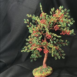 Дерево удачи с бисера