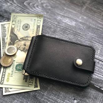 Зажим для купюр с карманом под монеты