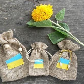 "Еко-торбинка ""Прапор України"", набір з 3-х штук"