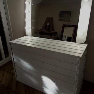 Макияжное зеркало белое
