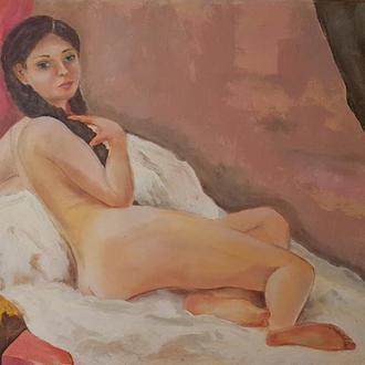 Живопис, картина маслом Оголена Ню