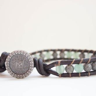 Спиральный браслет чан лу chan luu из натуральных камней