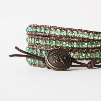 Спиральный браслет чан лу chan luu из стеклянных бусин