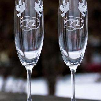Свадебные бокалы для шампанского.