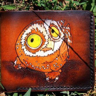 Женский кошелек, кошелек с совой, женское портмоне