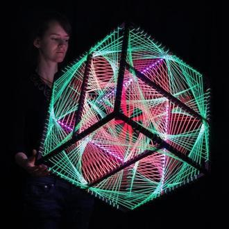 Fluorescent LED Cube (48 cm)